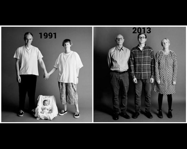 Family Photographed Yearly for 22 Years