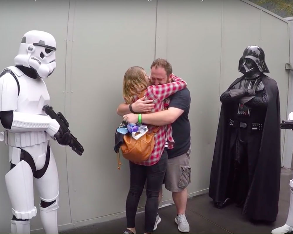 Darth Vader Helps Wife Tell A Surprise To Husband