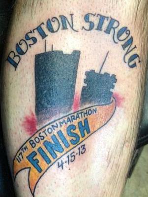 Boston tribute tattoo