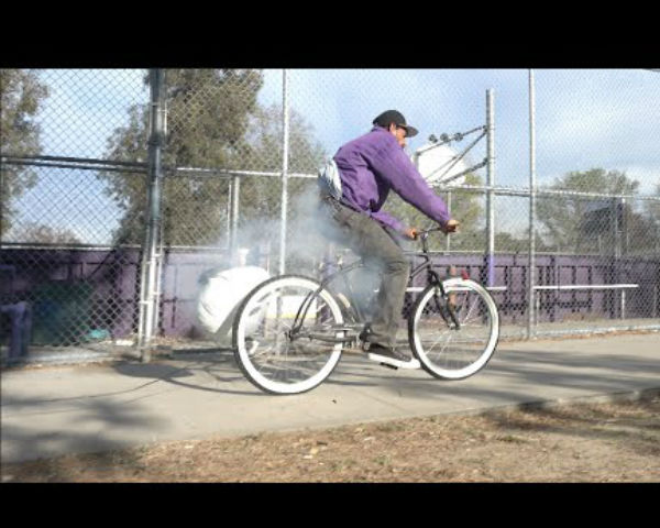 This Exploding Airbag Bait Bike Prank Is Just Hilarious