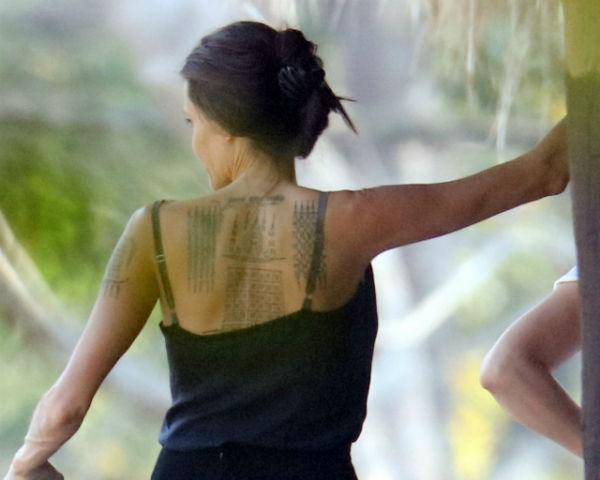 Angelina Jolie Gets Three New Stunning Tattoos!
