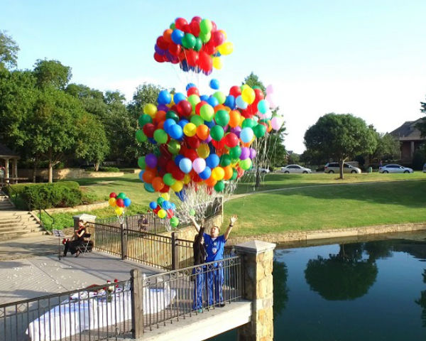 A Pixar's Up Inspired Marriage Proposal