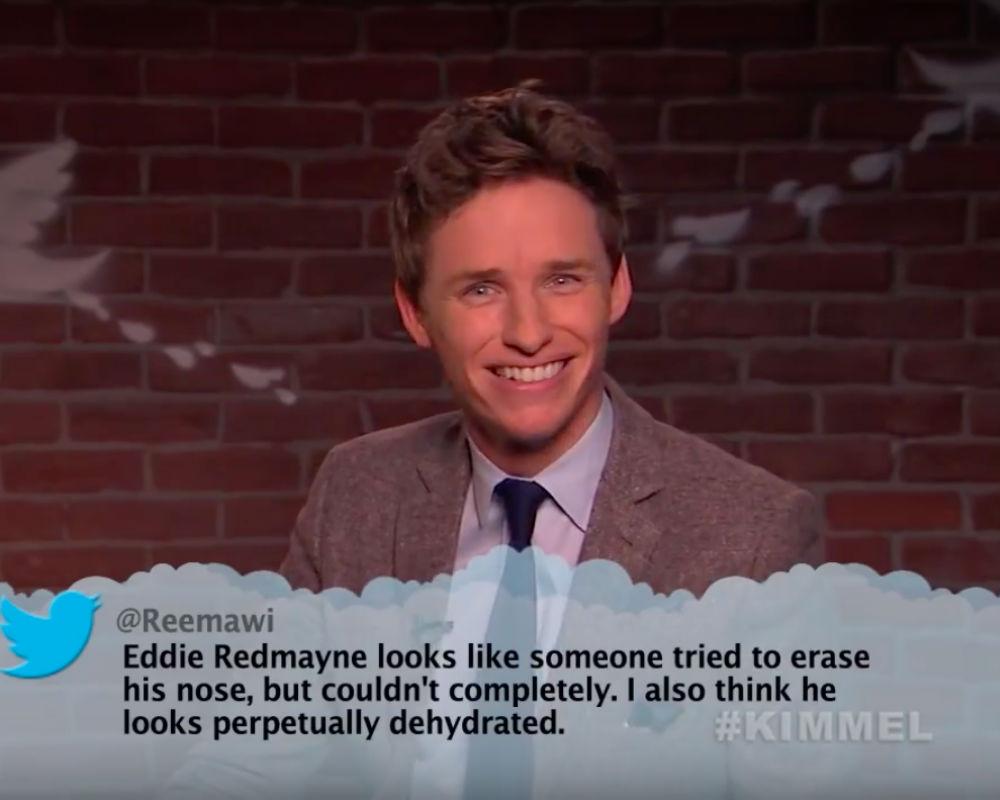 Eddie Redmayne On 'Mean Tweets'