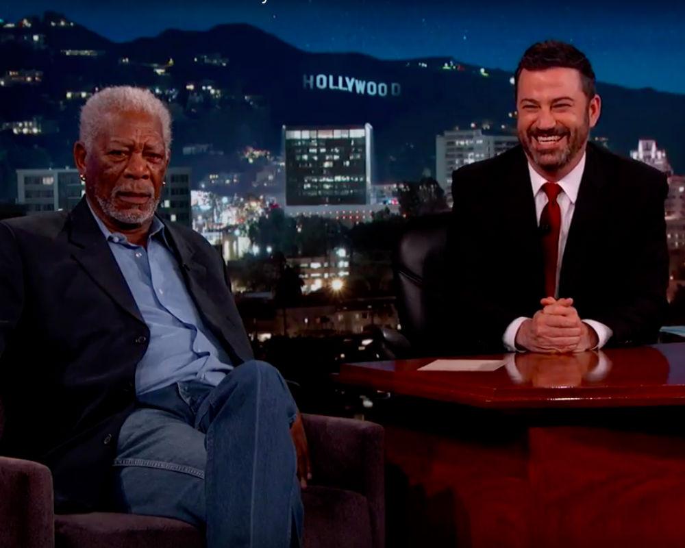 "Morgan Freeman On ""Jimmy Kimmel Live"""