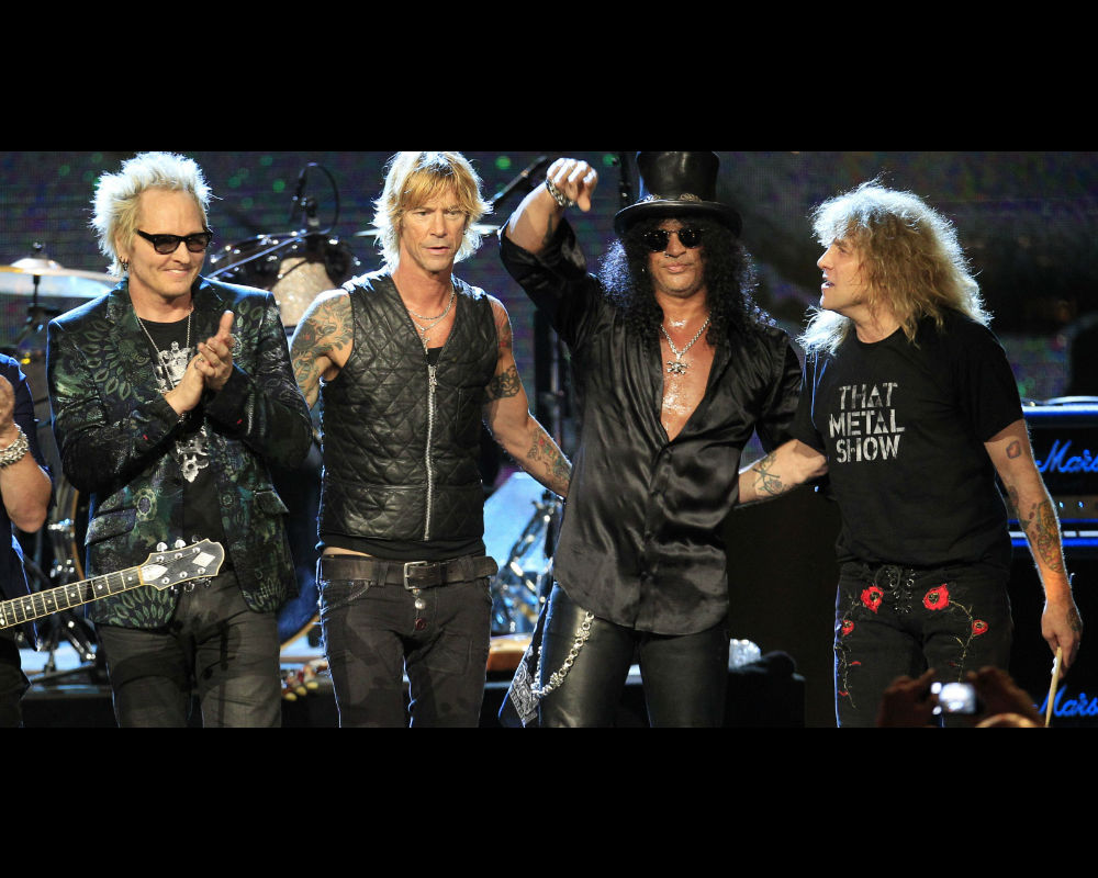 Celebs At The Guns N' Roses Reunion Show
