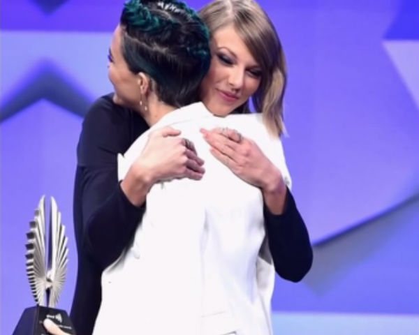 Taylor Swift Introduces 'Force Of Nature' Ruby Rose At GLAAD Awards