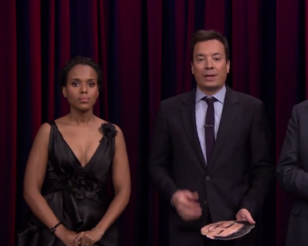 Kerry Washington Plays Celebrity Face-Off On 'The Tonight Show'