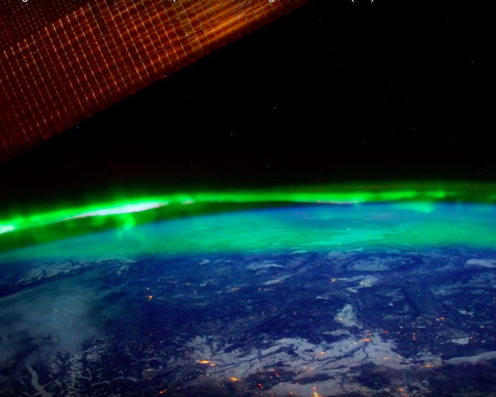 Beautiful Footage Of Aurora Borealis From Space