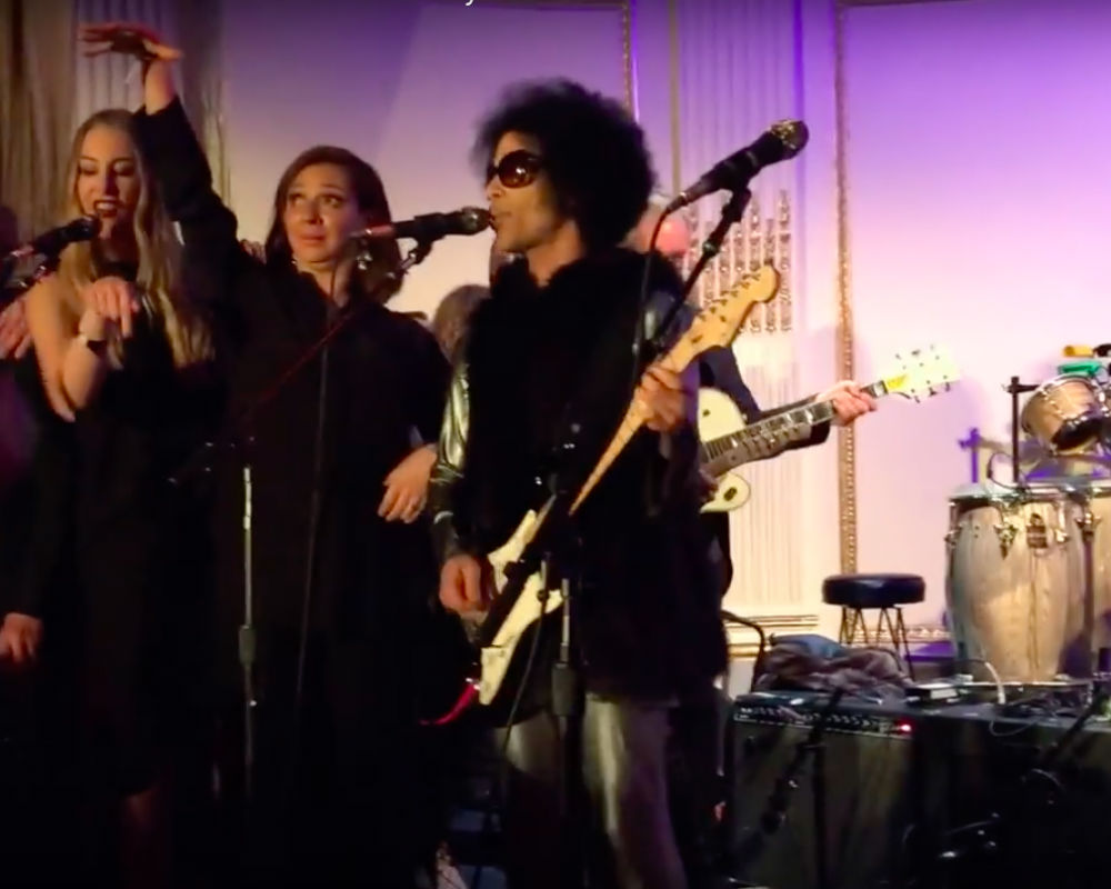 Prince Performs At 'SNL 40' Afterparty