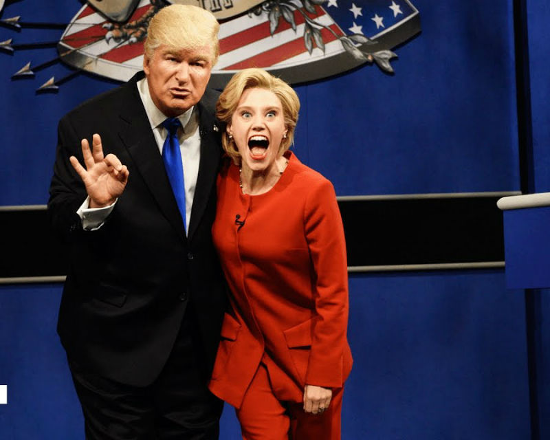 Alec Baldwin and Kate McKinnon as Donald Trump and Hillary Clinton on 'SNL'