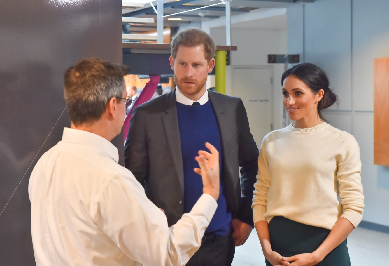 Prince Harry and Ms. Markle visit Catalyst Inc