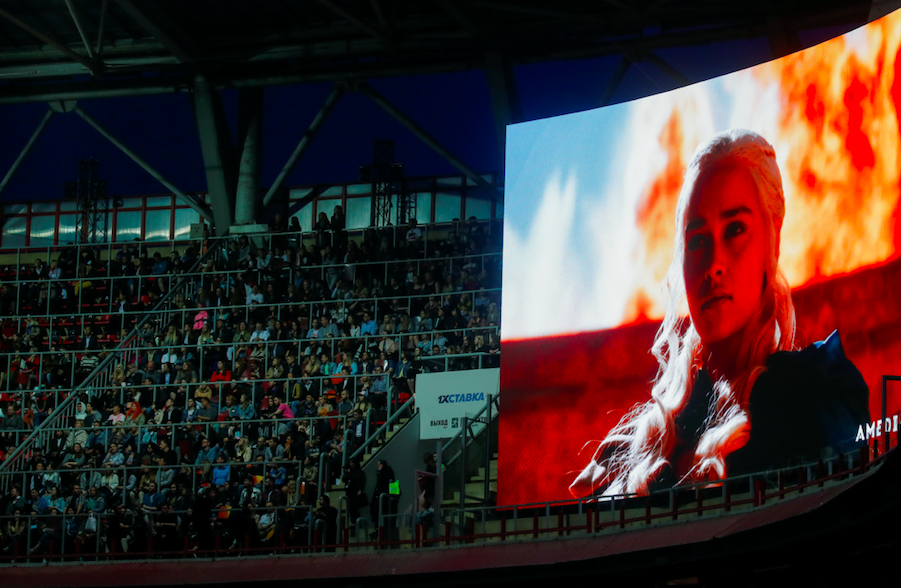 Game of Thrones Final Episode Watch Party held in an Amsterdam Stadium