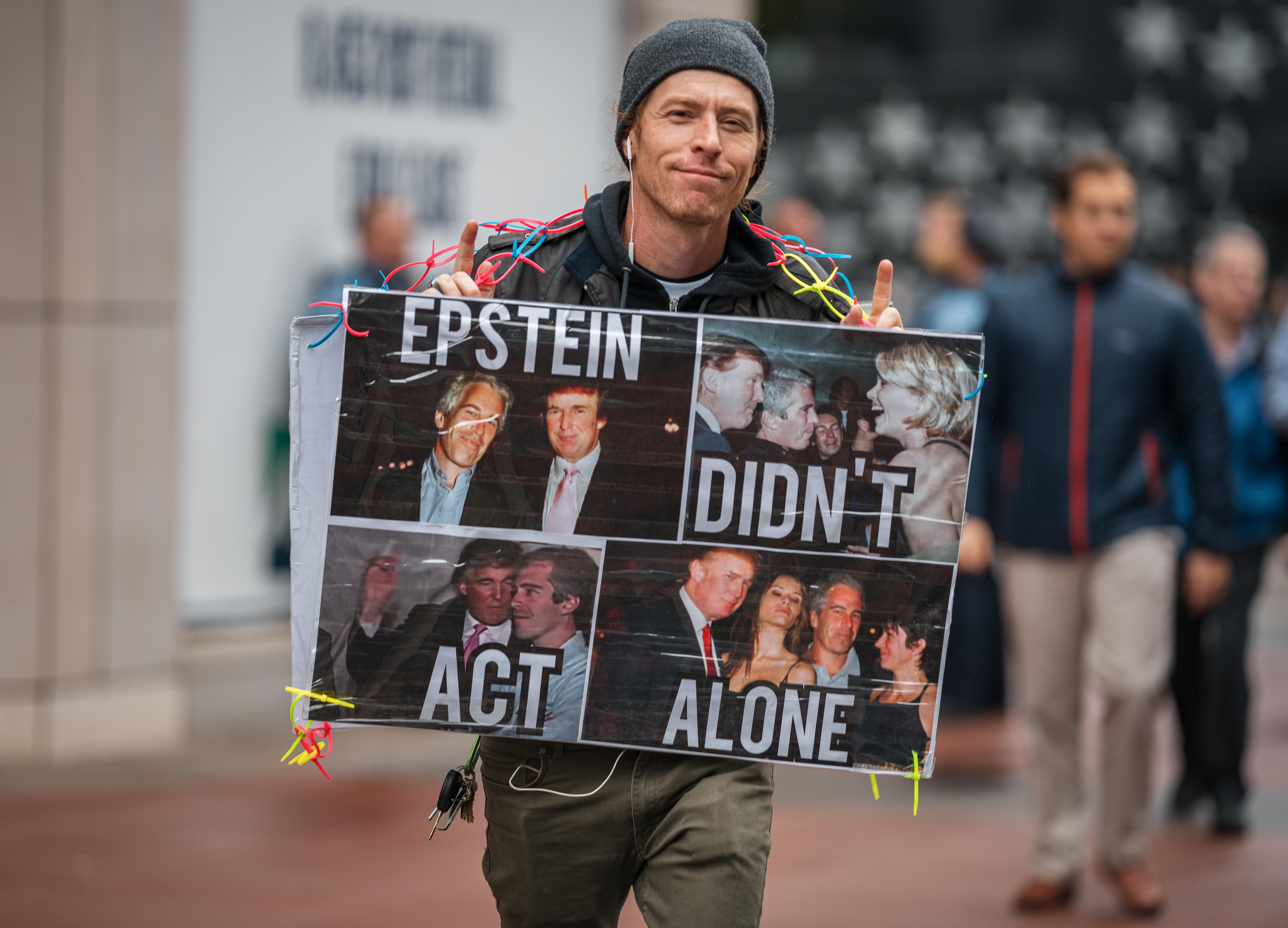 Jeffrey Epstein Protestor
