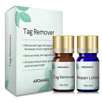 Aroamas Skin Tag Remover and Repair Lotion Set