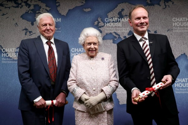 From Left to Right: Sir David Attenborough, Queen Elizabeth II, Julian Hector