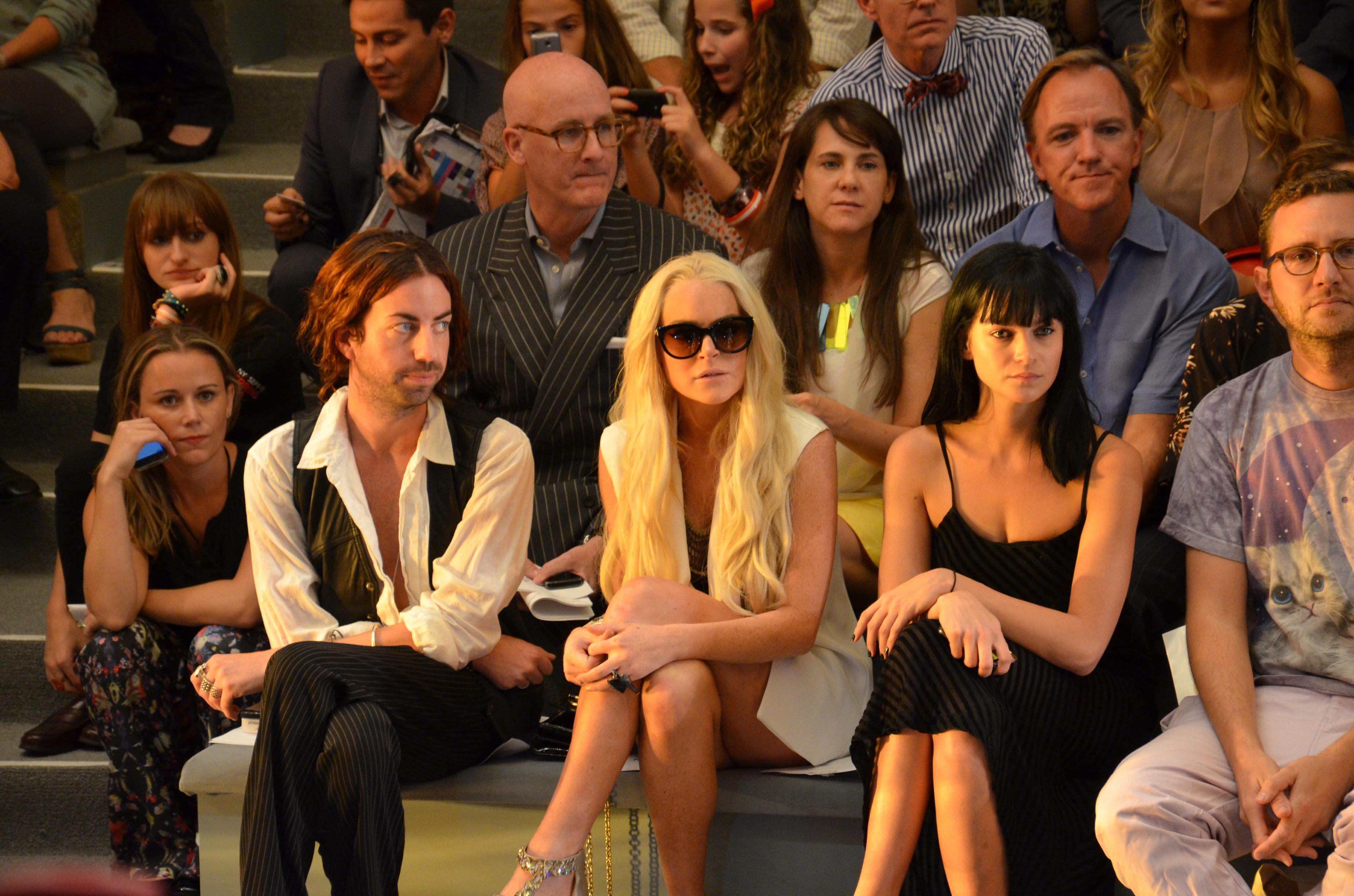 Lindsay Lohan at Cynthia Rowley 2011