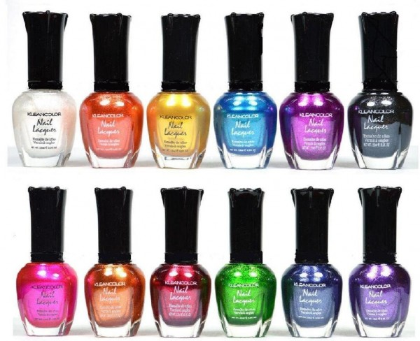 Kleancolor Nail Polish Gift Set in Metallic Colors