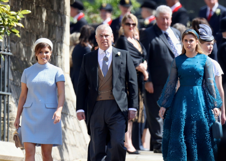 Princess Eugenie, Prince Andrew, Duke of York and Princess Beatrice