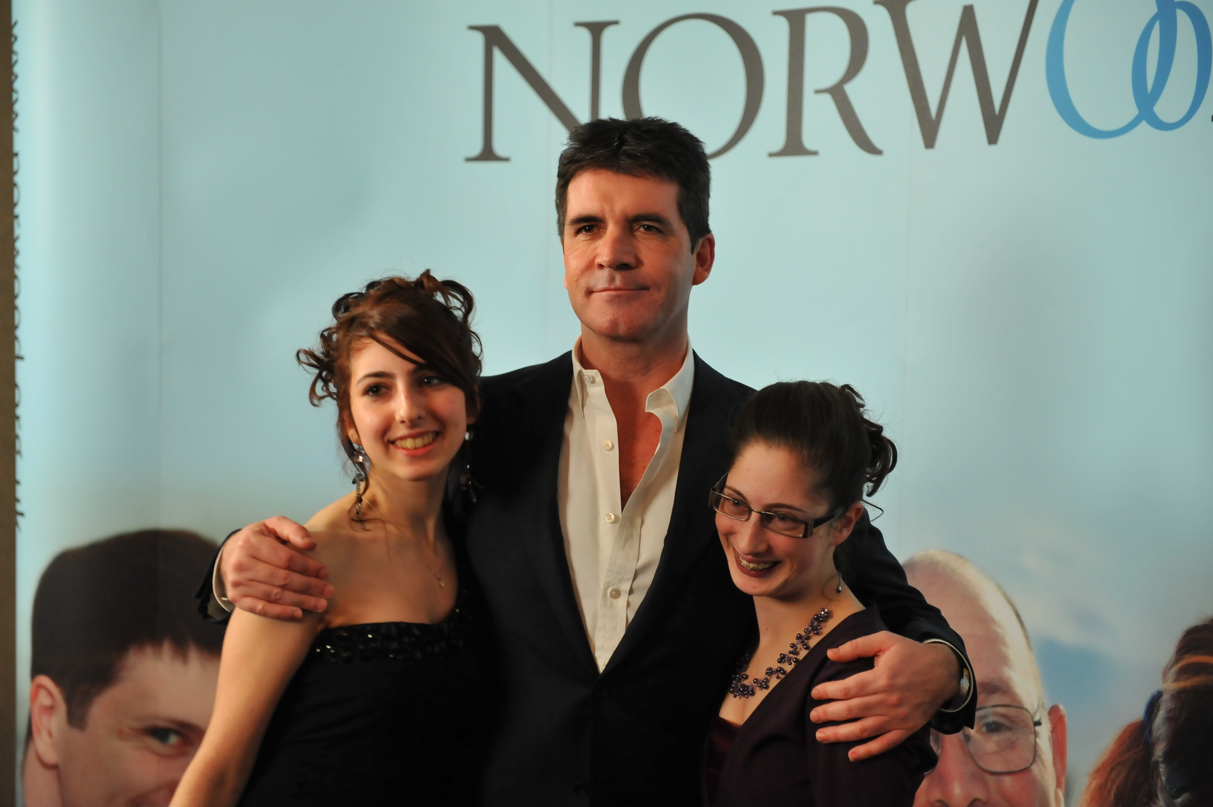 Simon Cowell with a Norwood service user