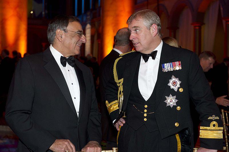 Prince Andrew and Leon E. Panetta