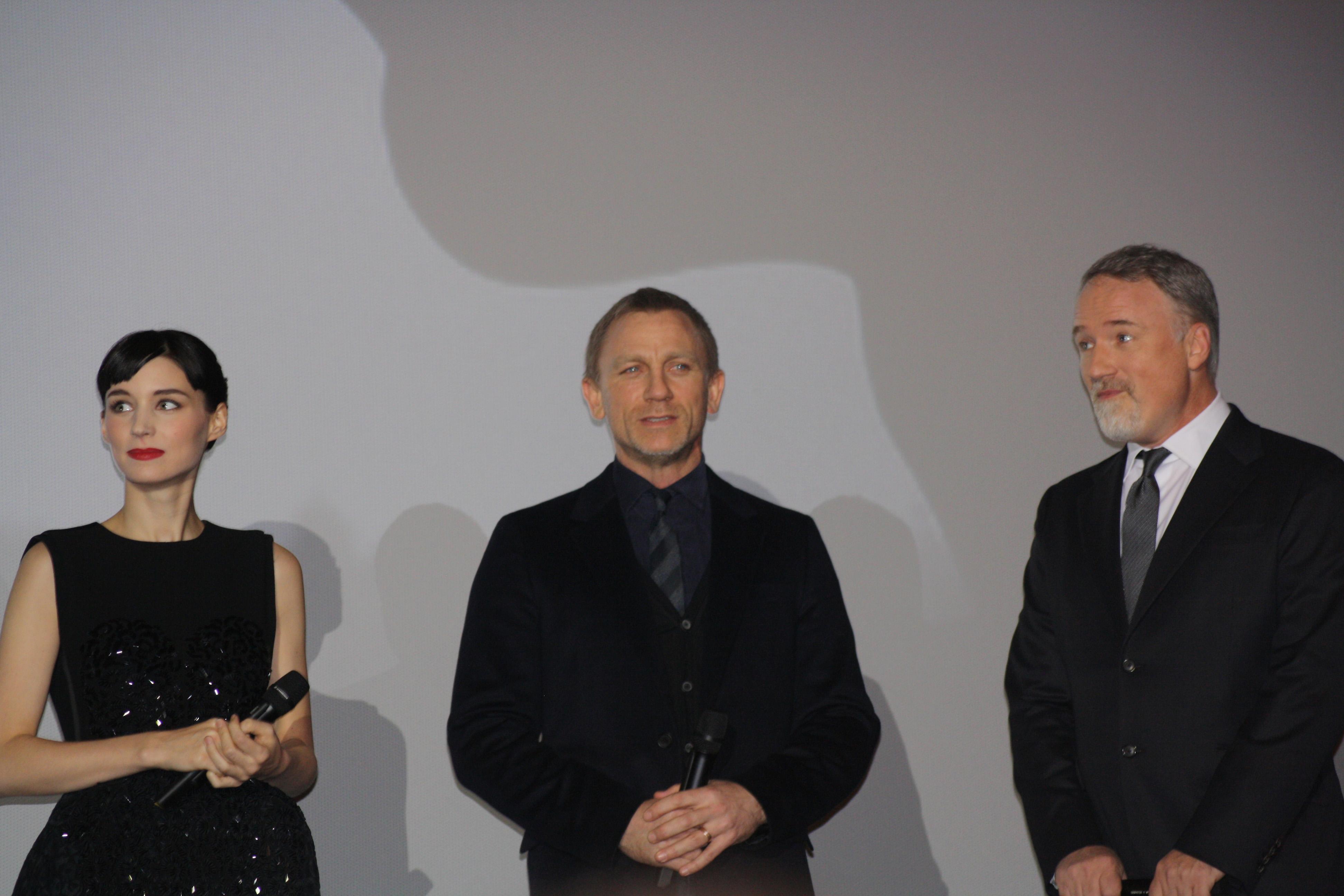 Rooney Mara, Daniel Craig and David Fincher (2012)
