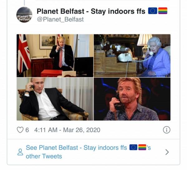 Queen Elizabeth and PM Boris Johnson Meme