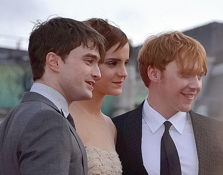 Danielle Radcliff, Emma Watson, Rupert Grint