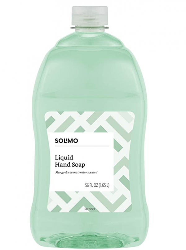 Amazon Brand - Solimo Liquid Hand Soap Refill, Mango and Coconut Water, 56 Fluid Ounce