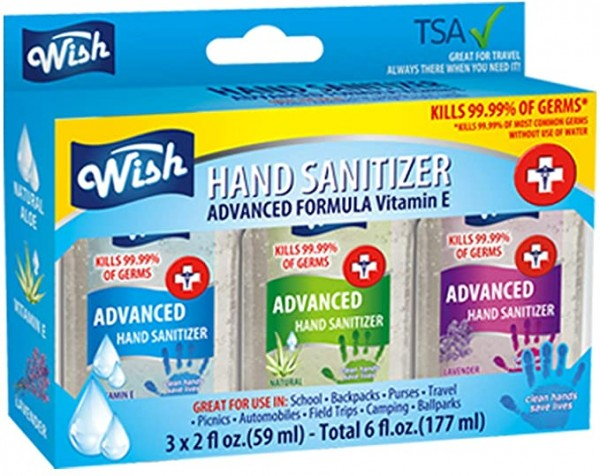 Wish Hand Sanitizer Assorted Scents