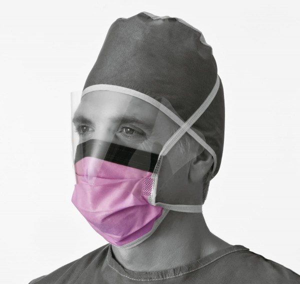 Medline Face Mask With Eye Shield