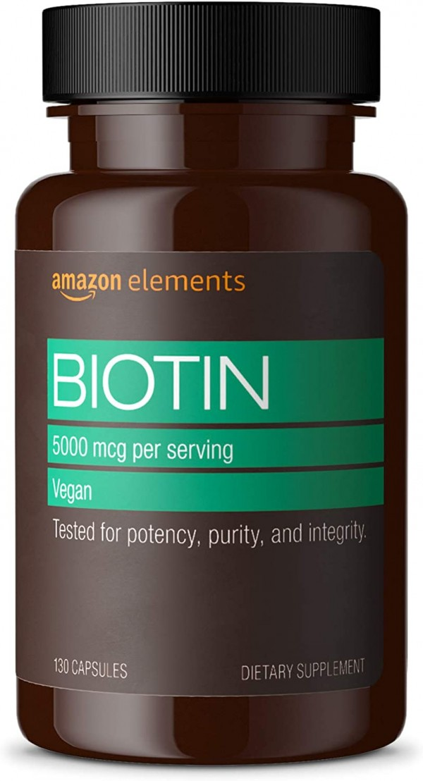 Amazon Elements Vegan Biotin 5000 mcg