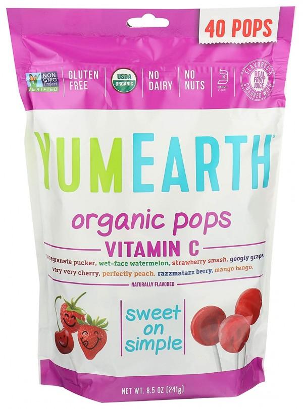 YumEarth Organic Pops Vitamin C