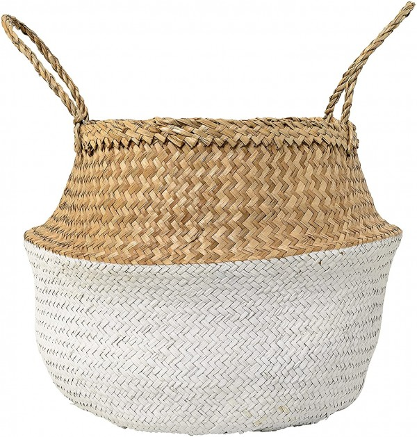 Bloomingville Home Accessories Large Seagrass Basket with Handles