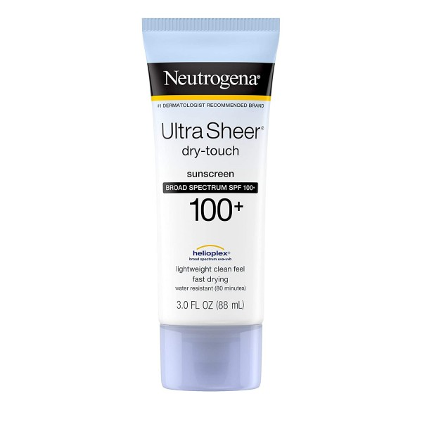 Neutrogena Ultra Sheer Dry-Touch Water Resistant and Non-Greasy Sunscreen Lotion with Broad Spectrum SPF 100+
