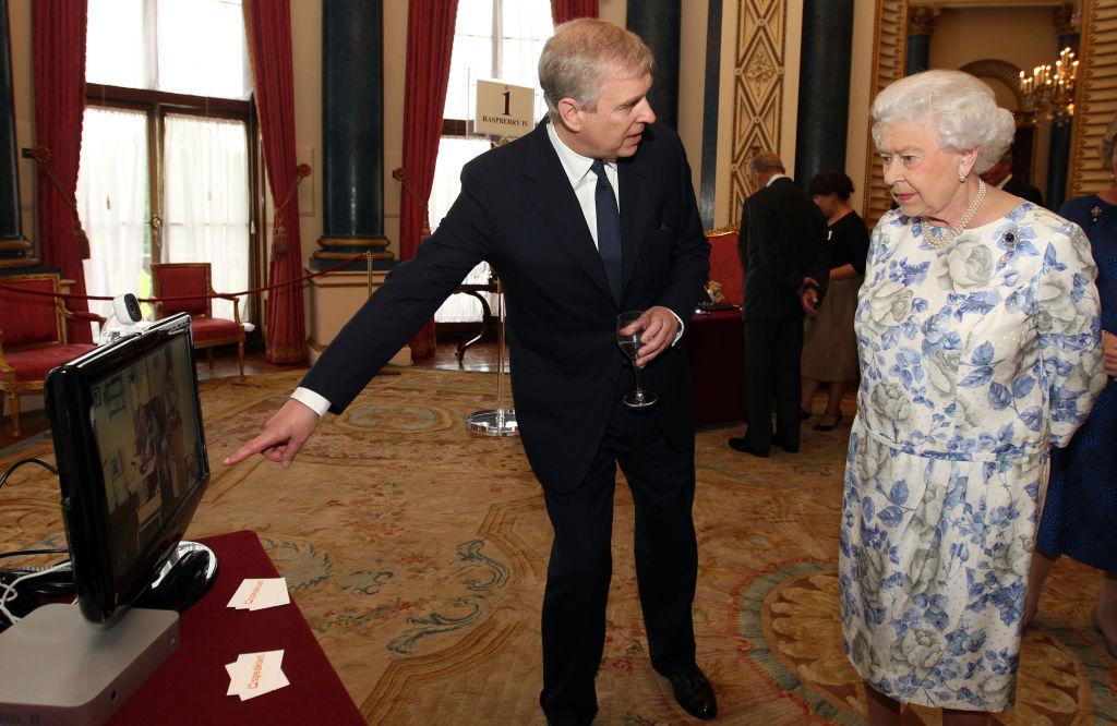 Prince Andrew and Queen Elizabeth II