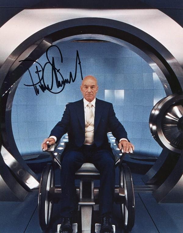 X-Men Patrick Stewart Signed Poster