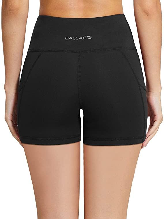 BALEAF Women's High Waist Exercise Shorts