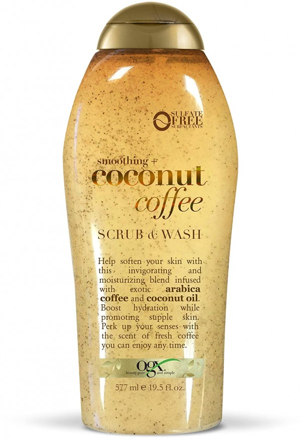 OGX Soothing Coconut Coffee Scrub & Wash