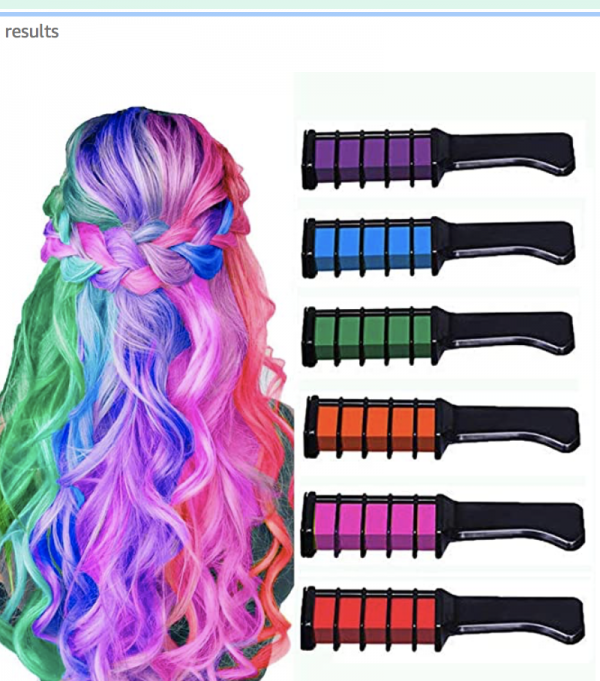New Hair Chalk Comb Temporary Bright Hair Color Dye for Girls Kids, Washable Hair Chalk for Girls