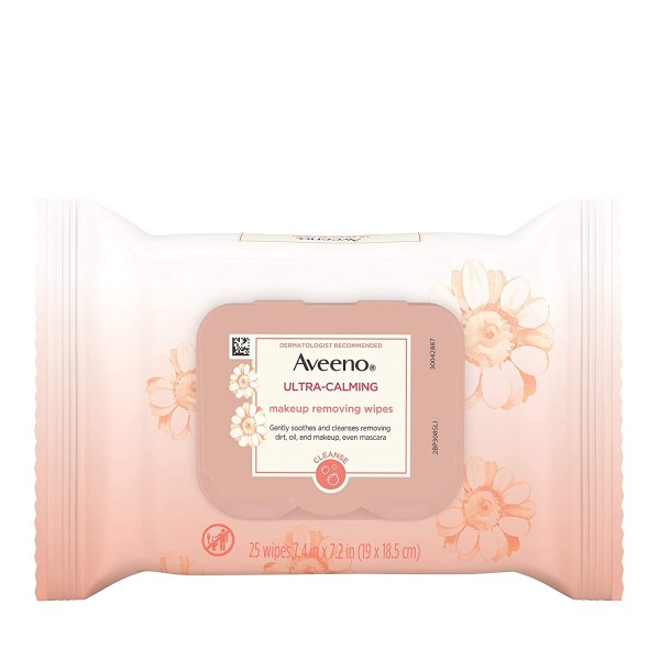 Aveeno Ultra-Calming Makeup Removing Facial Cleansing Wipes