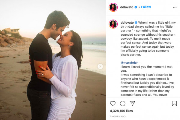 Demi Lovato, Max Ehrich Engaged