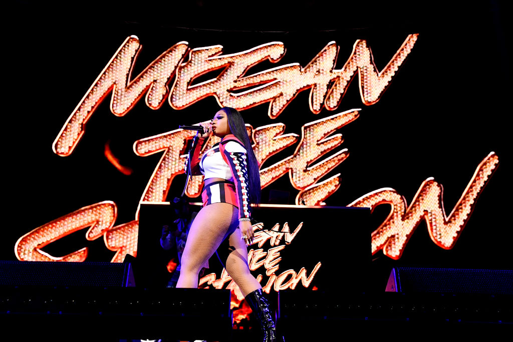 Megan Thee Stallion During EA Sports Bowl at Bud Light Super Bowl Music Fest