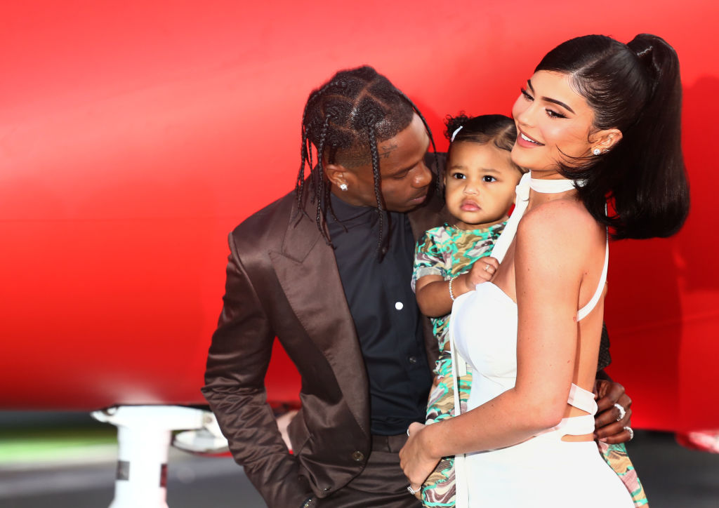 Kylie Jenner, Stormi Webster, and Travis Scott