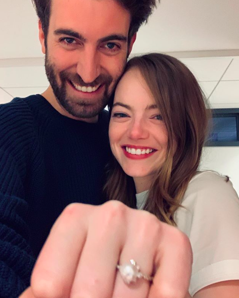 Emma Stone, Dave McCary engagement