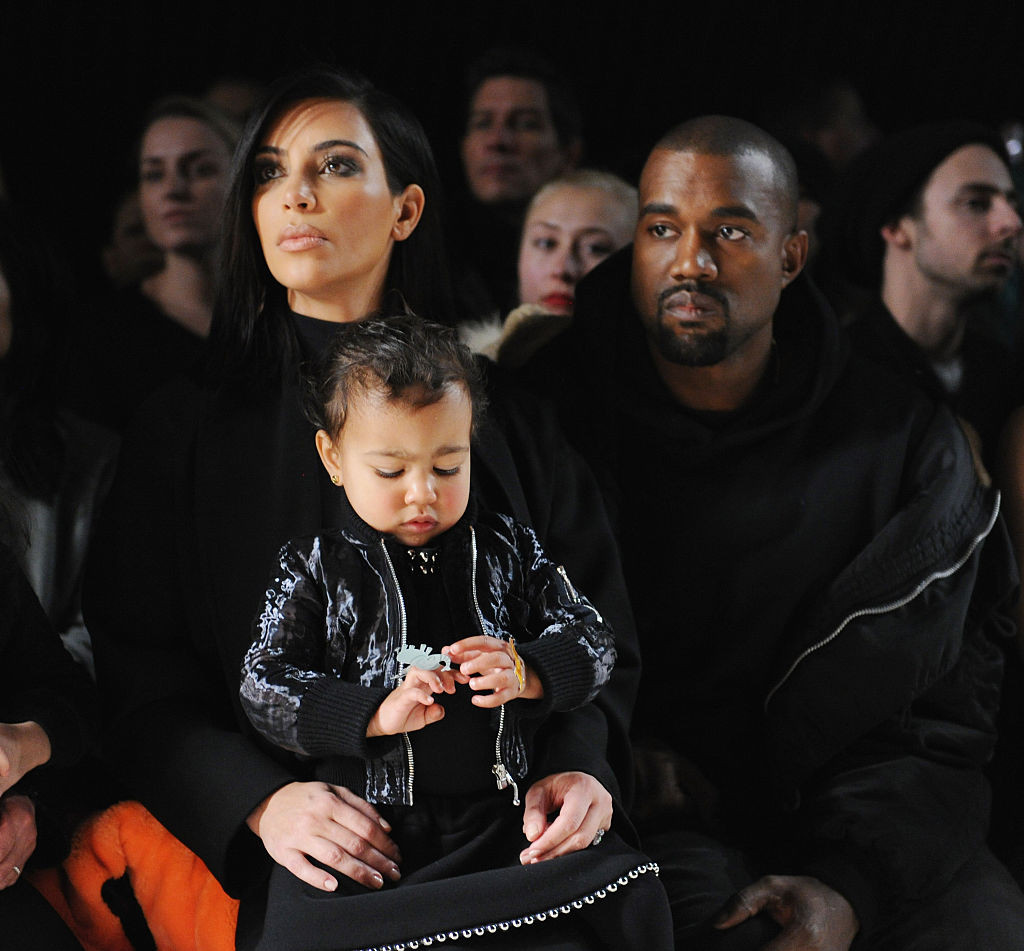 Kim Kardashian, Kanye West, and North West