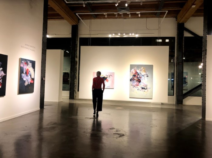 Janna Watson at her opening at Foster White in Seattle (Seven Perfect Syllables)