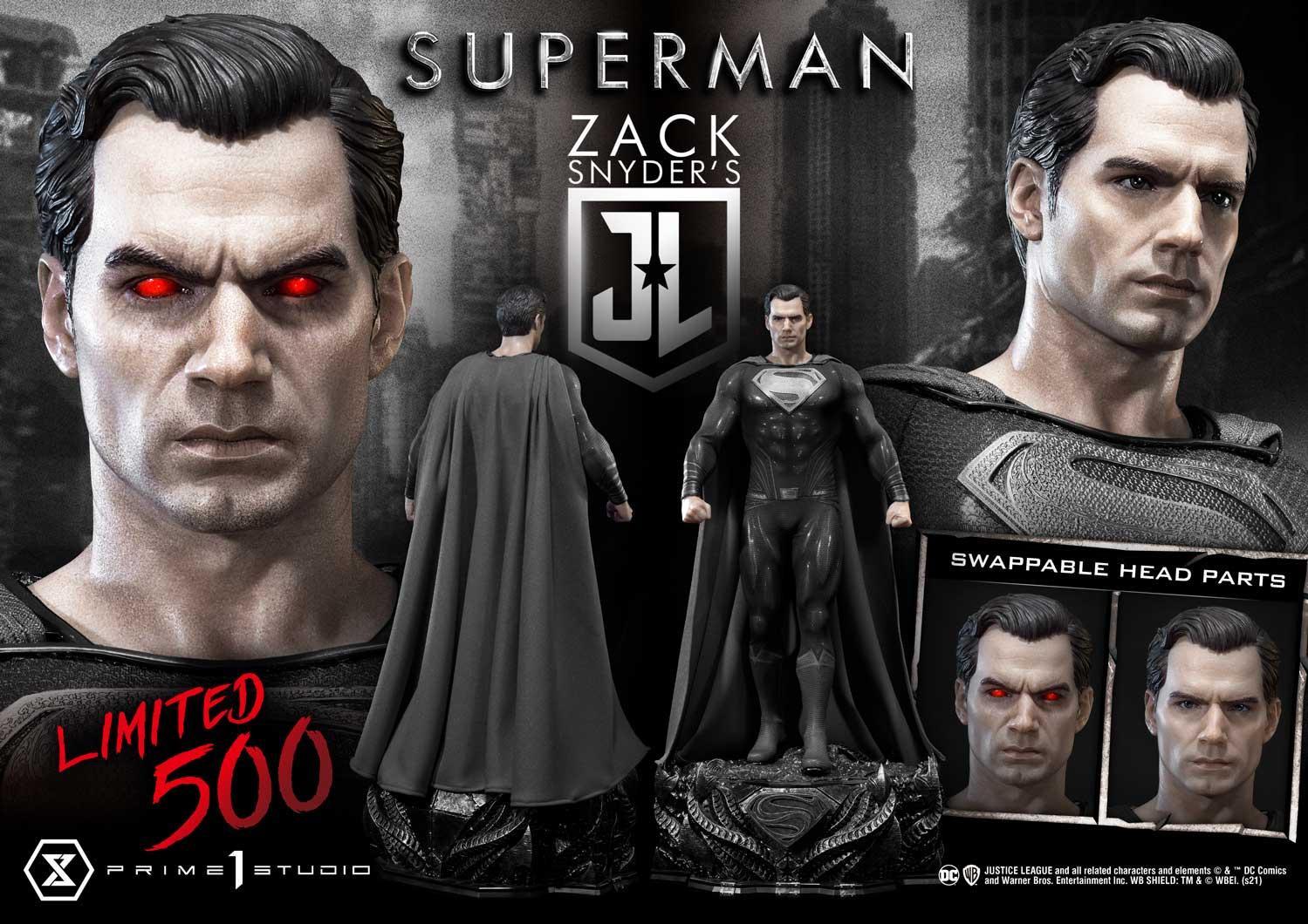 Zack Synder Justice League Superman Black Suit