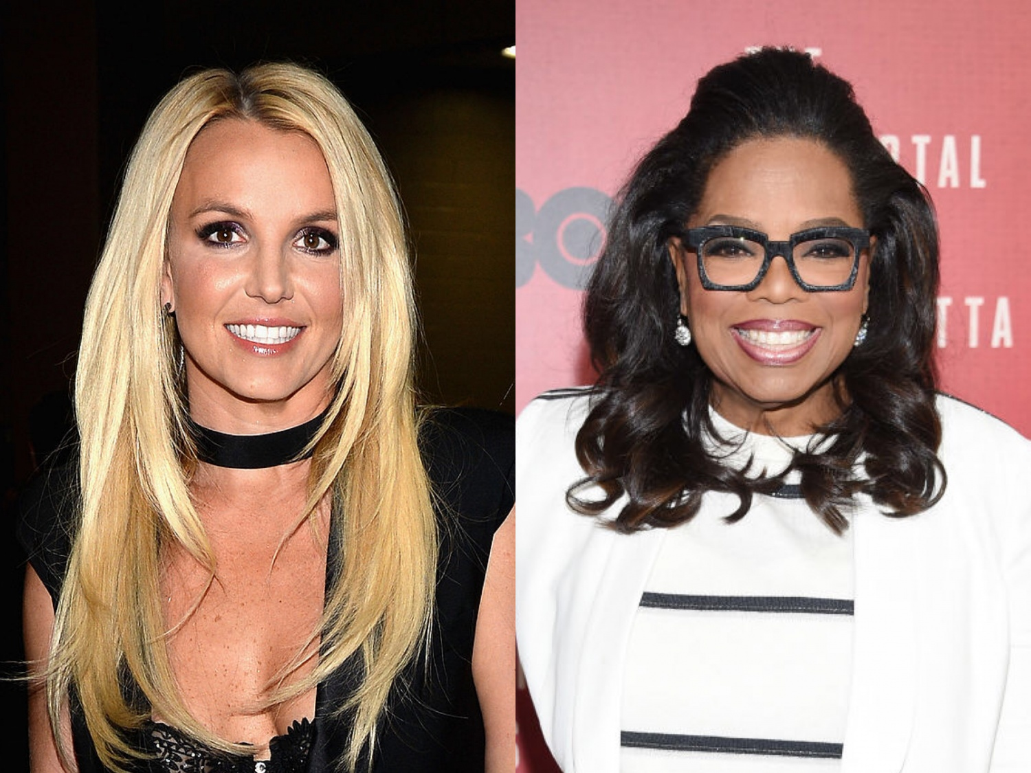 Britney Spears and Oprah Winfrey
