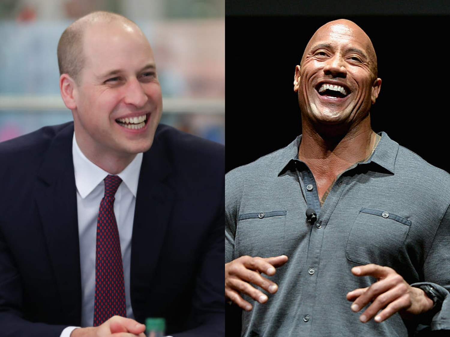 "Prince William, Dwayne Johnson ""World's Sexiest Bald Man"""