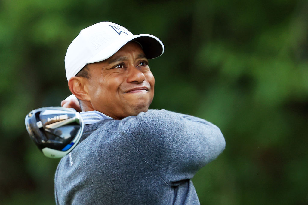 Tiger Woods charges